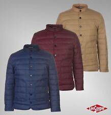 Mens Branded Lee Cooper Lightweight Long Sleeves Essential Down Jacket Size S-XL
