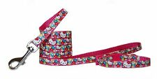 Pink red yellow super cute Hello Kitty Floral chihuahua dog puppy collar & lead