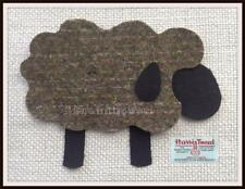 Applique - Patch - Highland Sheep - Peat - Harris Tweed - Iron Sew On - SP11.