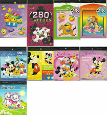 Disney Princess Mickey Mouse Marie the Cat Tattoo Smileys .Mini Stickers Book