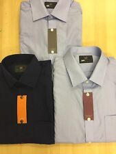 M&S New PolyCotton PLAIN SHIRT Long AND SHORT Sleeve Casual Work Formal