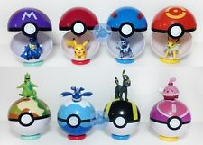 9Pokemon Pokeball Pop-up 7cm Cartoon Toy Plastic BALL Pikachu Monster Xmas WQZY