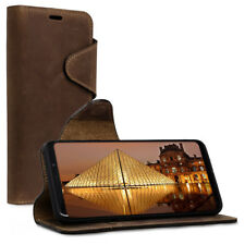 FUNDA DE CUERO REAL PARA SAMSUNG GALAXY S9 PLUS WALLET CASE CON TARJETERO
