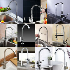 Pull Out 360° Swivel Spout Kitchen Taps Chrome Modern Mixer Brushed Faucet tap