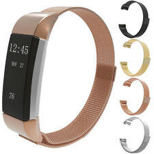 New Milanese Silicone Strap Charge Band For Fitbit Steel 2 Bracelet Stainless