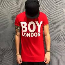 BOY LONDON T-SHIRT DA UOMO ROSSA CON LOGO BIANCO ORIGINALE BL364