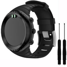 Silicona WATCHBAND Muñeca Band Correa para Suunto Core All NEGRA Sport Watch