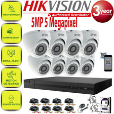 Hikvision CCTV HD 1080P 5MP Outdoor 4CH 8CH DVR Home Security System Kit Trade