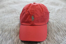 Polo ralph lauren Men Red cotton chino sports baseball Cap hat One Size