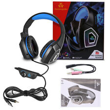 Professional PC Gaming Headset Headphone Mic 3.5mm Bass Surround for PS4 Hot