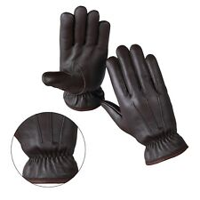 Genuine Sheep Leather Winter Warm Driving Gloves Fleece Lining Dress Glove