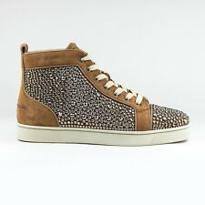 100% Authentic Christian Louboutin Louis Strass Chestnut Brown RRP £2000