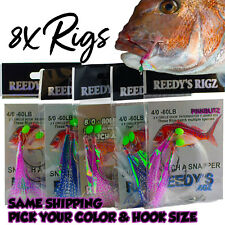 8x Snapper Snatchers Rig Fishing Rigs Bait 60lb Leader Hook 5/0 Paternoster Tied