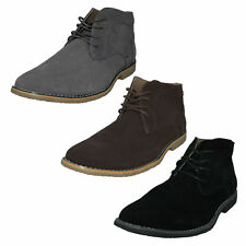 MENS MALVERN LEATHER/SUEDE DESERT LACE UP ROUND TOE ANKLE BOOTS A3069 SIZES