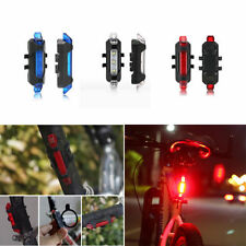New 5 LED USB Rechargeable Bicycle Cycling Tail Rear Safety Warning Light Lamp