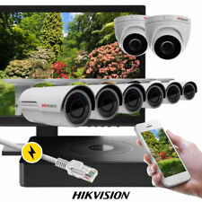 8 x 2MP CCTV Cam PoE Recorder UK Full HD IP67 Auto Zoom BLC System fr. Hikvision