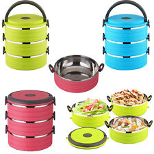 Stainless Steel Lunch Box School and Office Lunch Box 3 Layers, Three Colours