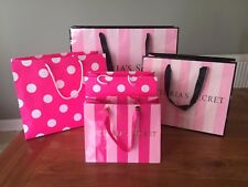 """""""VICTORIA'S SECRET"""" VARIOUS GIFT BAGS IN TRADITIONAL PINK COLOURS"""