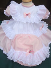 DREAM 0- 5 years BABY GIRLS TRADITIONAL ROMANY NETTED DRESS PANTS 0 REBORN DOLLS