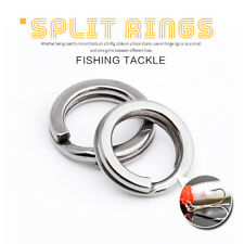 50/100pcs Acciaio Inox Pesca Solido a Scatto Split Ring Lure Tackle Connettore