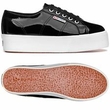 Superga zeppa 4cm 2790 SCARPE DONNA CHIC FASHION Vernice Aut/Inv NERO News 999lx