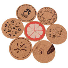 Flexible Wood Drink Coaster Tea Coffee Cup Mat Japan Style Table Drinks Mats QWZ