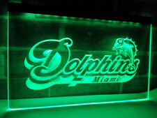 Miami Dolphins Football 3D Drink LED Neon Sign Light Plate Flag Bar Club Pub