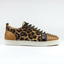 100% Authentic Brand New Mens Christian Louboutin Louis Junior Spikes Leopard