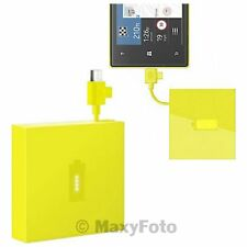 NOKIA POWER PACK BANK CARICA BATTERIA EMERGENZA ORIGINALE DC-18 GIALLO 000282A