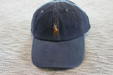 Polo ralph lauren Men blue denim cotton baseball Cap hat One Size