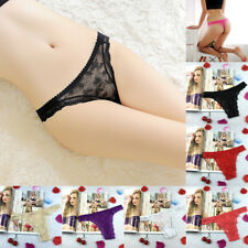 Womens Lace G-string Briefs Underwear Panties Thongs Knickers Ladies Party Sexy