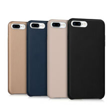 FUNDA BLANDA PARA APPLE IPHONE 7 PLUS 8 PLUS CUERO SINTÉTICO CARCASA PROTECTORA