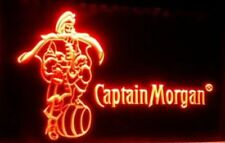 Captain Morgan LED light sign Rum home Bar pub wall hanging Neon alcohol decor