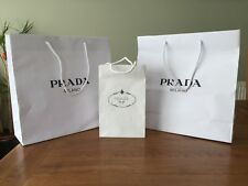 """SELECTION AUTHENTIC """"PRADA -MILANO"""" SMALL & MEDIUM WHITE GIFT BAGS -ALL """"NEW """""""