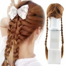 COSPLAY Anna Anime Braids Design Ice Queen Brown Cosplay Long Party Wig  ES