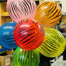 "12 """" Animal Print Helio / Air Transparente Globos Selva Safari Granja Mascotas"