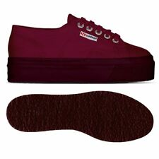 SUPERGA ZEPPA 4cm 2790 SCARPE DONNA calzature tela ACOTW UP AND DOWN Rosso G98zc