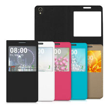 COVER PER HUAWEI ASCEND G620S CUSTODIA FINESTRA SIMIL PELLE