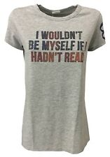 OTTOD'AME t- shirt camisa mangas cortas mujer gris 100 % algodón MADE IN ITALY L