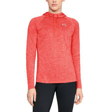 Under Armour Mujer Tech Twist Hoodie Rosa Deporte Gimnasio Capucha Transpirable