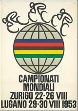 Vintage 1953 World Cycling Championships Poster Print A3/A4