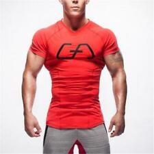 Men's GYMs Stringer T shirt Bodybuilding Fitness Workout Casual Top