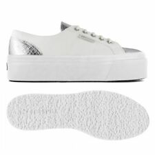 SUPERGA ZEPPA 4cm chic DONNA FASHION calzature tela animal Pelle eff. News 903gr
