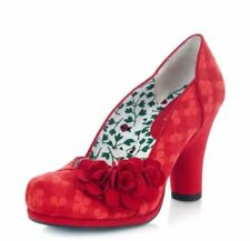 Ruby Shoo NEW Charlotte red floral brocade high heel court shoes size 7