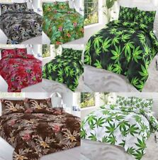 Luxurious Cannabis Abby Weed Leaf Print Bedding All Sizes Duvet Pillow Case Set