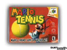Mario Tennis N64 Nintendo 64 Game Case Box Cover Brand New Professional Quality!