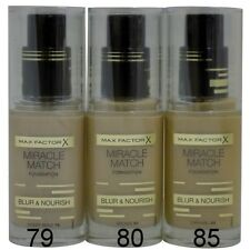 Max Factor Miracle Match Foundation Blur & Nourish 30 mls choose your colour