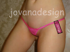 jovanadesign Ladies Sexy Micro Tiny Sheer String HOT PINK Lace 8 10 12 14 16