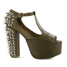 63591 JEFFREY CAMPBELL TACCO FOXY SPIKE BROWN LEATHER