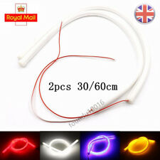 2x 30/60 cm Flexible Soft Tube Guide Car LED Strip DRL Turn Signal Light UK Sale